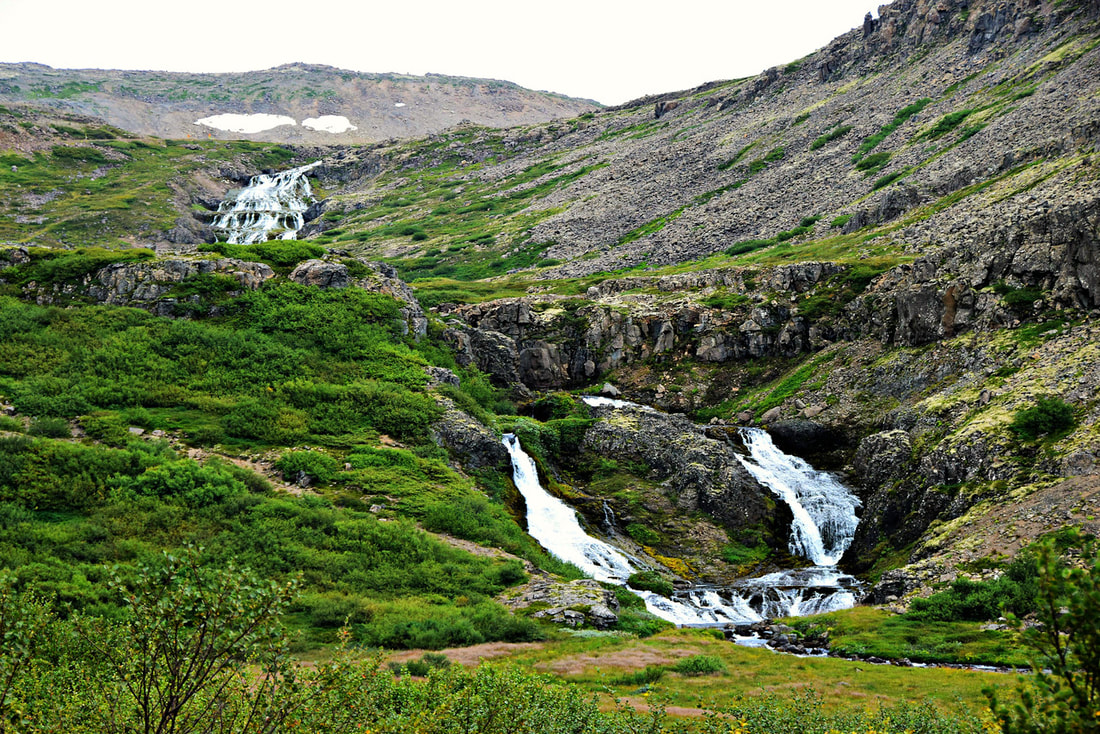 West Fjords Waterfall near Dynjandi - Iceland