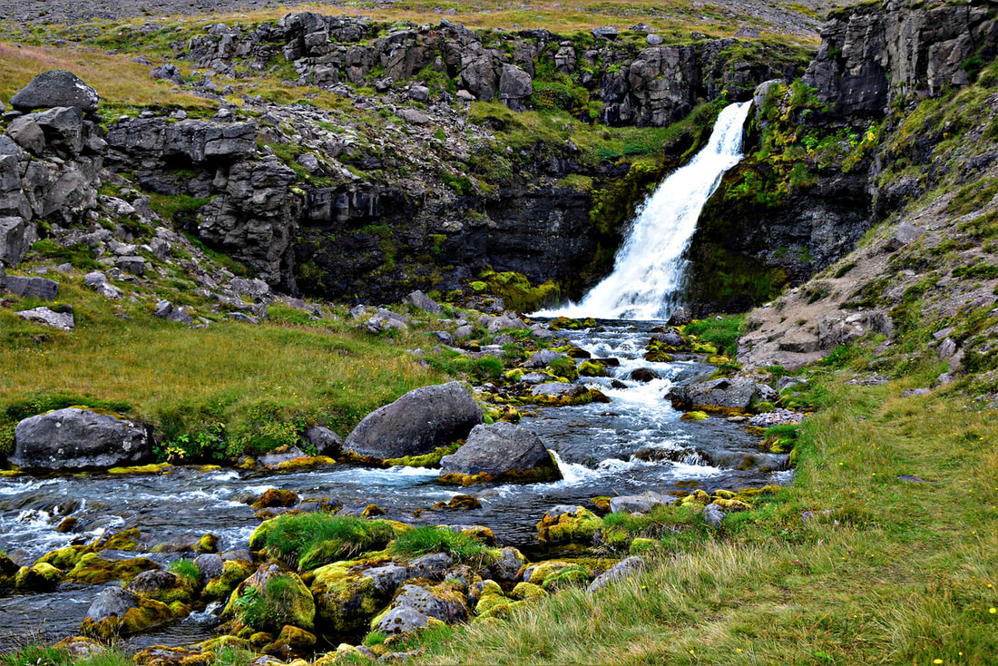 West Fjords Waterfall - Iceland