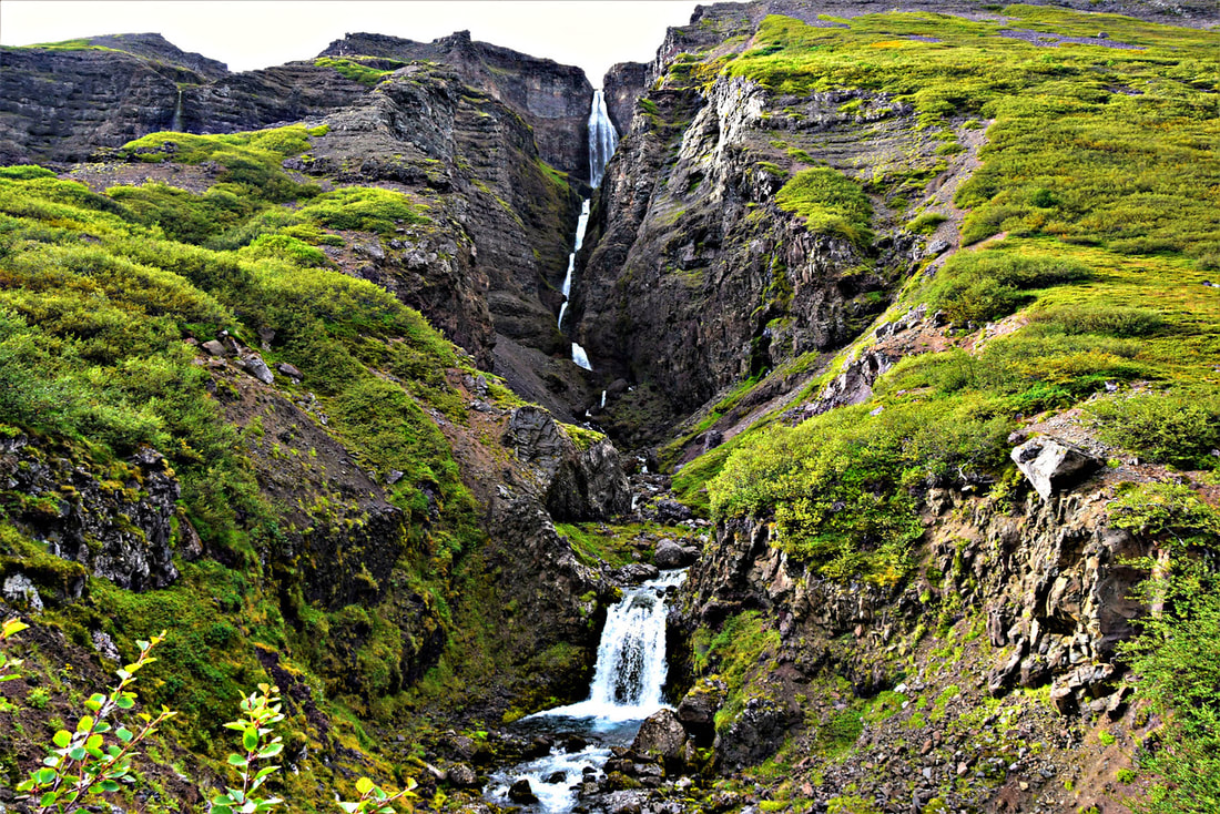 Valagil Waterfall Hike - Iceland