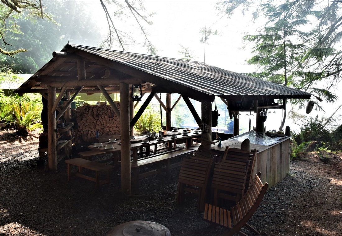 Dining Shelter, Orca Dreams Camp
