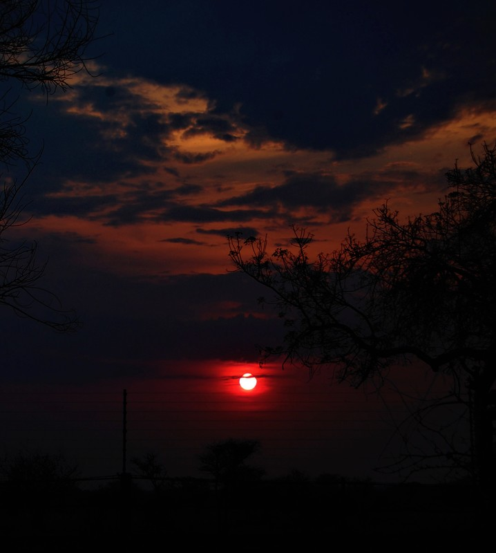 Sunset, Satara Camp, Kruger National Park, South Africa