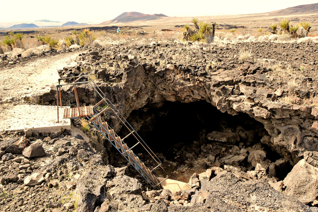 Lava Tube Entrance - Mojave National Preserve
