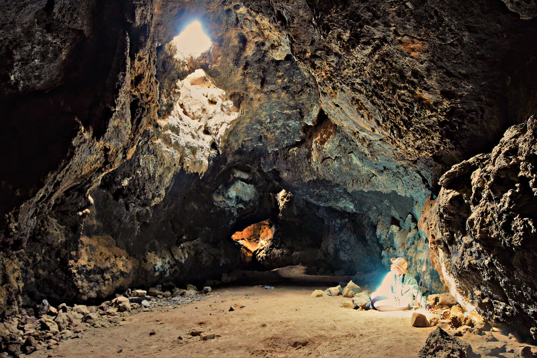 Lava Tube Spotlight - Mojave National Preserve