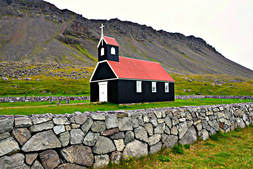 Black & Red Church - Rauðasandur Beach - Iceland